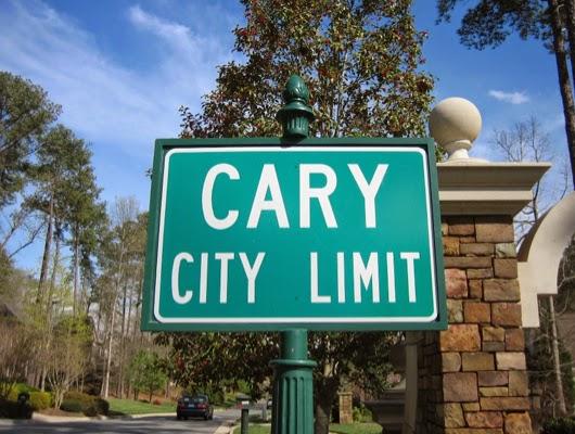 carync city limit sign